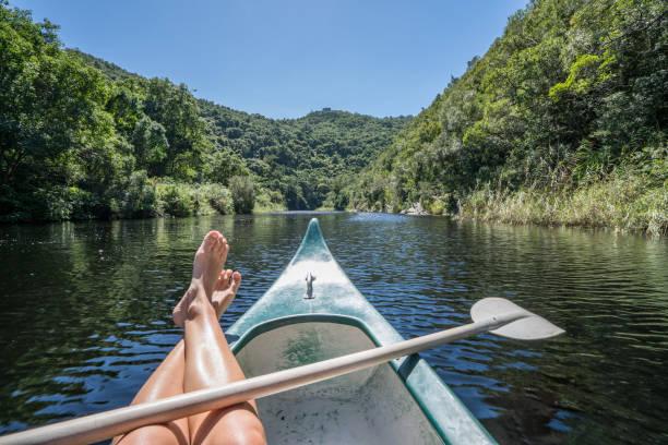 Sicht des weiblichen im Kanu – Foto