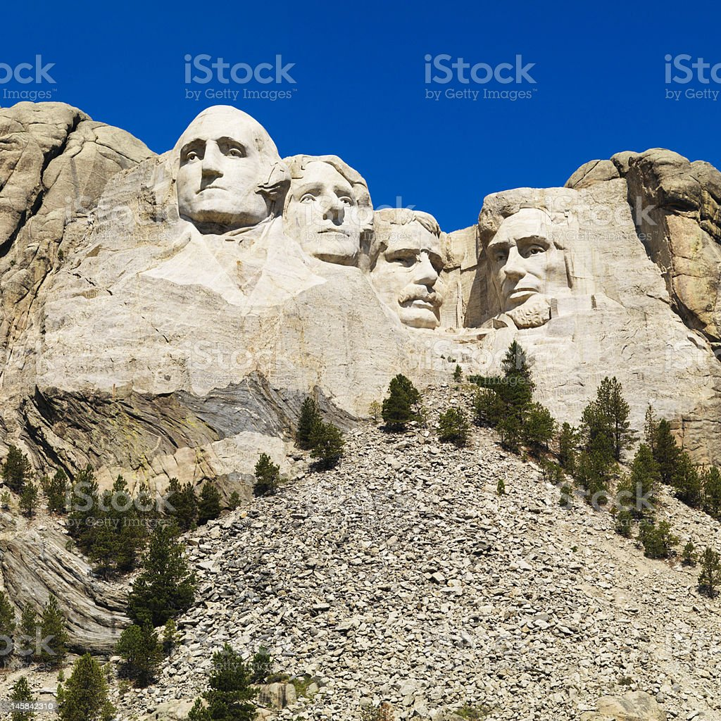 A point of view picture of Mount Rushmore stock photo