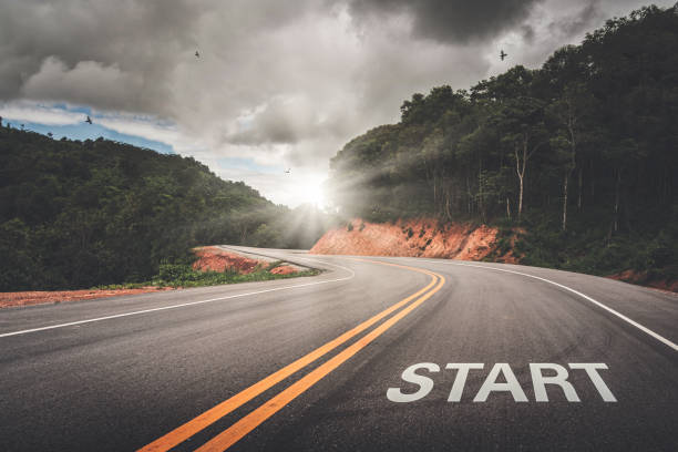 START point on the road of business or your life success. The beginning to victory. START point on the road of business or your life success. The beginning to victory. starting line stock pictures, royalty-free photos & images