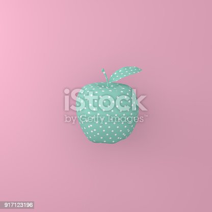 istock Point pattern white on green apple on pink background. minimal idea food concept. An idea creative to produce work within an advertising marketing communications or artwork design. 917123196