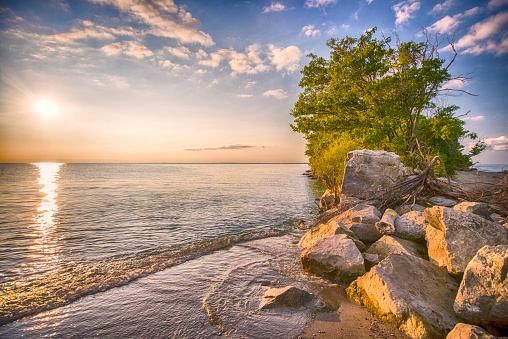 854222674 istock photo Point Pelee National Park beach at sunset 854222674