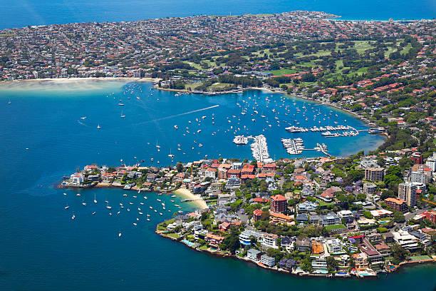 Punto Pifferaio e Rose Bay a Sydney - foto stock