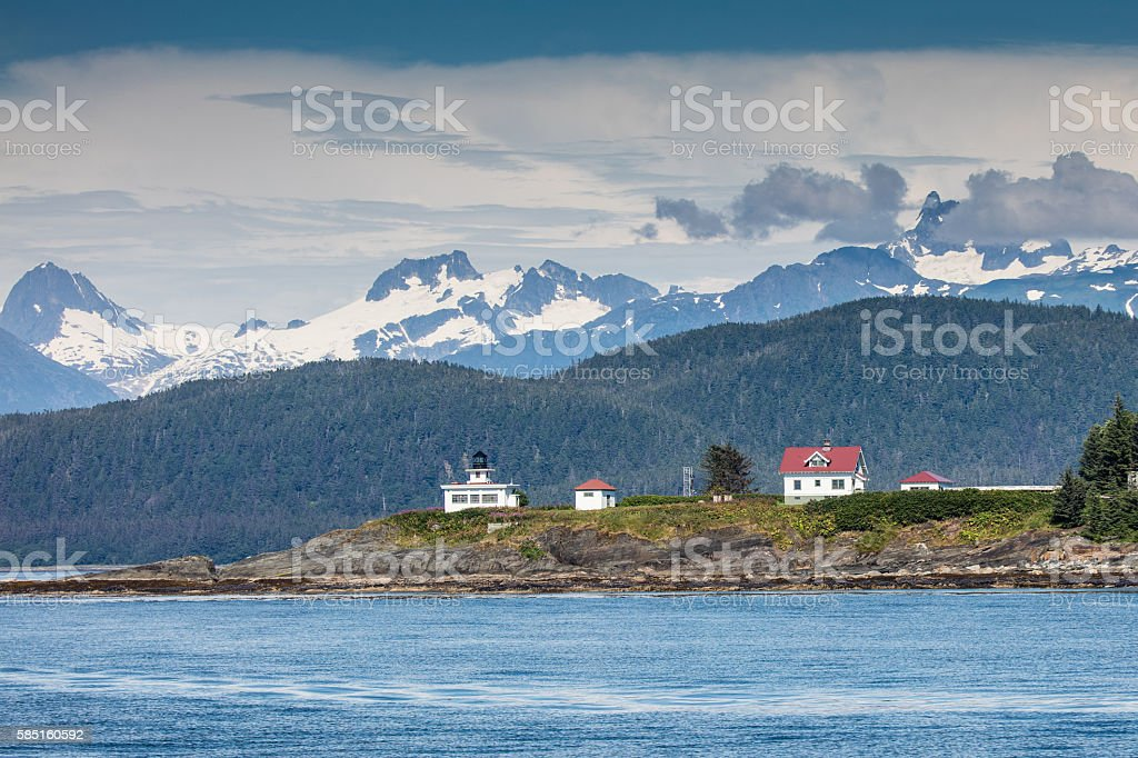 Point Retreat Lighthouse stock photo