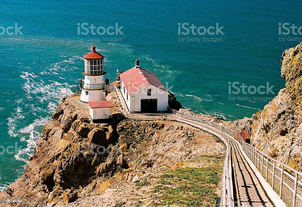 Point Reyes California Lighthouse on Coast stock photo