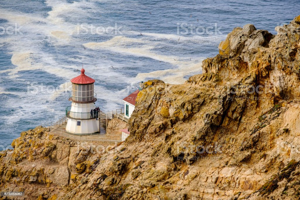 Point Reyes Lighthouse at Pacific coast, built in 1870 royalty-free stock photo