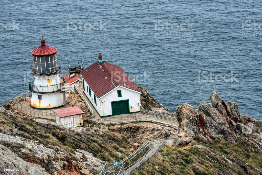 Point Reyes Lighthouse in California royalty-free stock photo