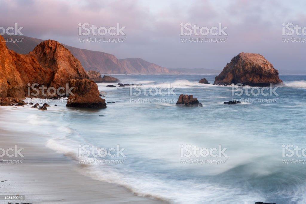 Point Reyes National Seashore with Rocky Coastline stock photo