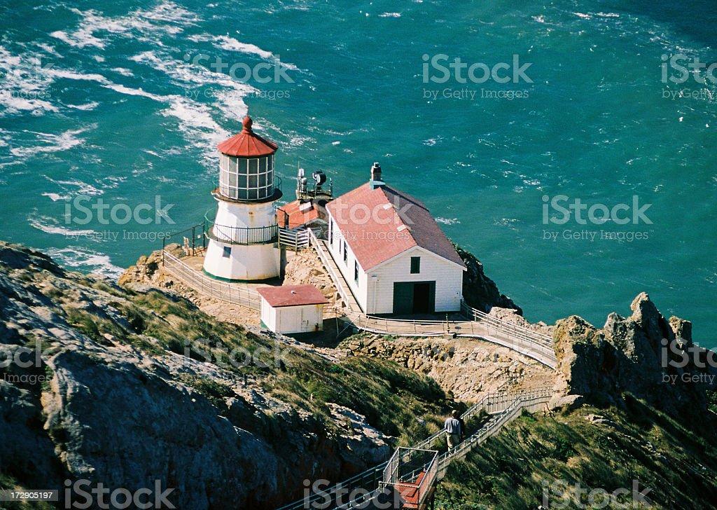 Point Reyes seashore lighthouse stock photo