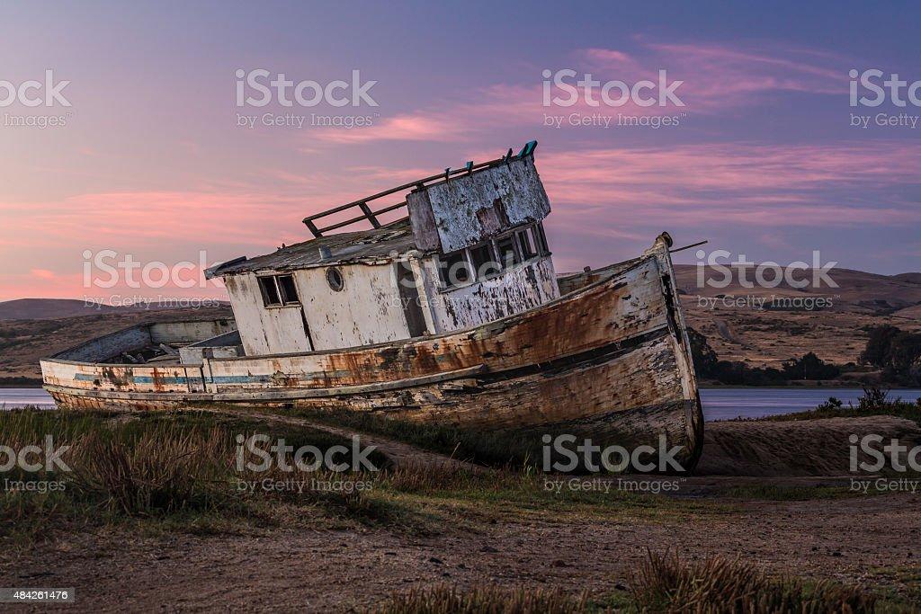 Point Reyes Shipwreck - Sunset stock photo