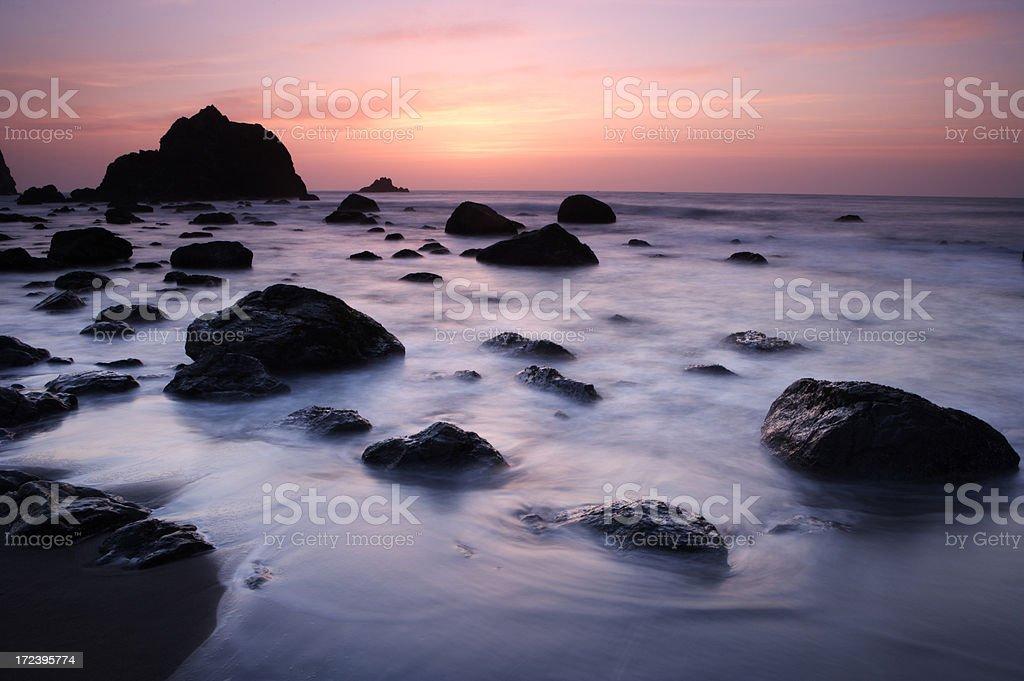 Point Reyes Sunset royalty-free stock photo
