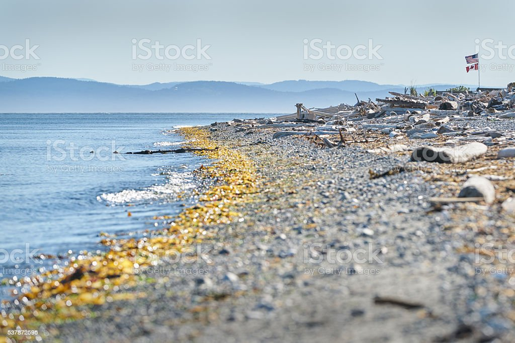 Point Roberts, Washington State Beach stock photo
