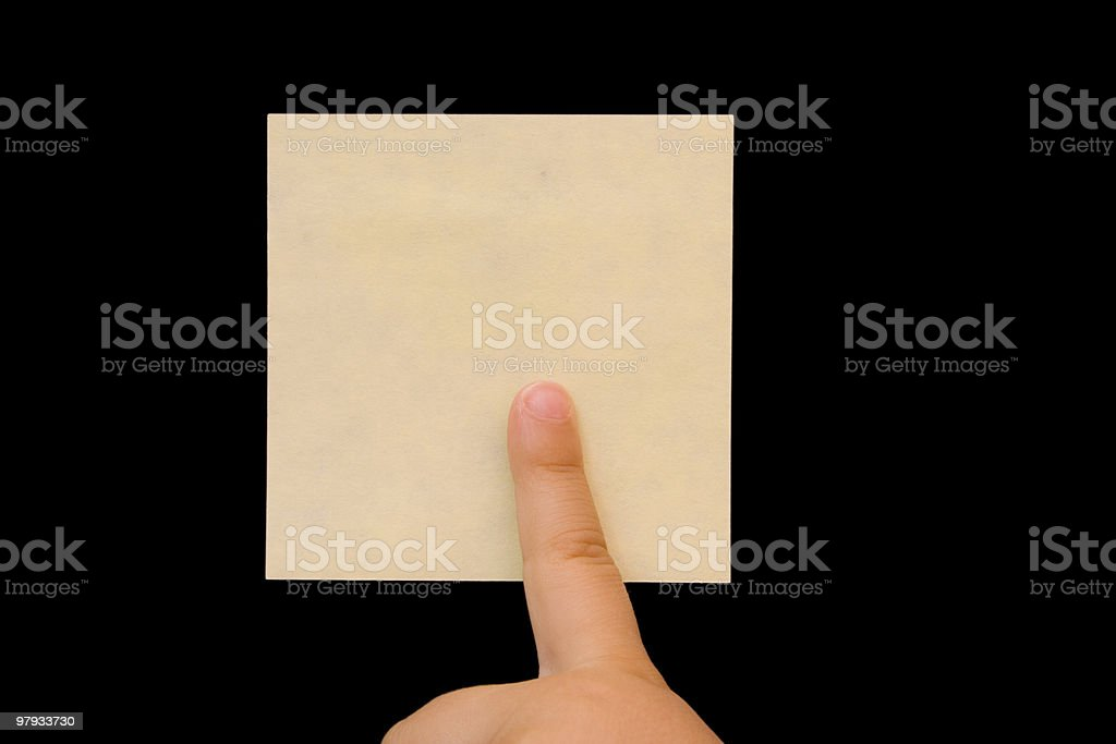 point to the post-it royalty-free stock photo