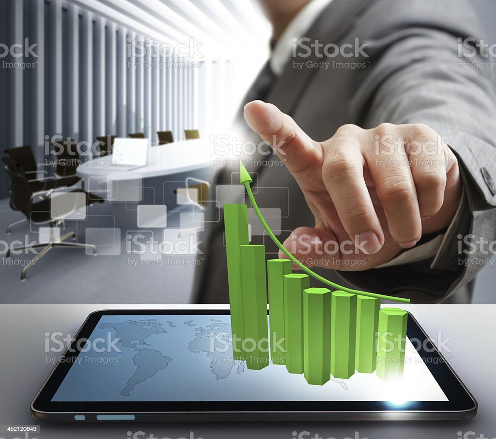 point to virtual graph royalty-free stock photo