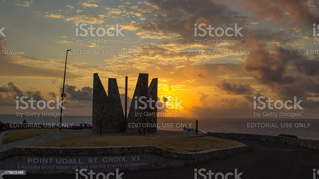 Point Udall St. Croix Sunrise stock photo