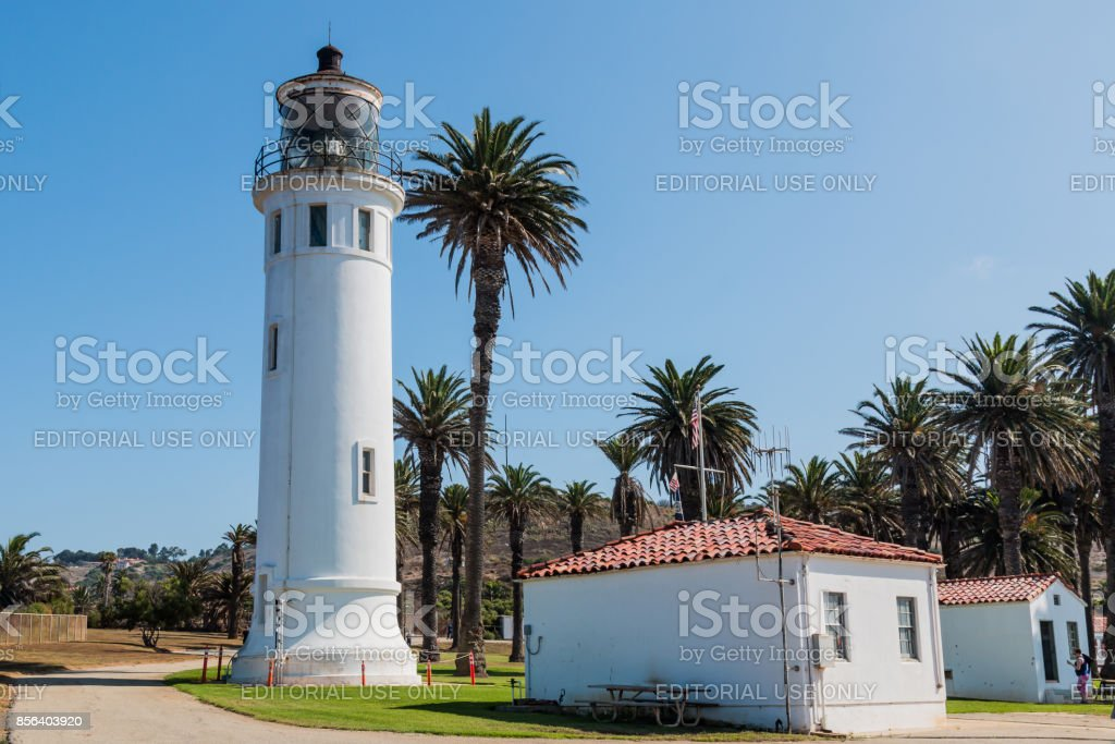 Point Vicente Lighthouse and Museum in California stock photo