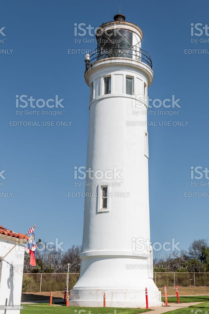 Point Vicente Lighthouse, Operated by U.S. Coast Guard in CA stock photo