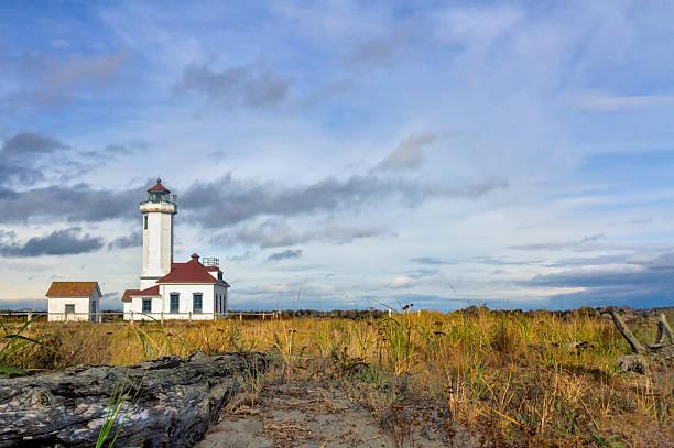 Point Wildon lighthouse stock photo