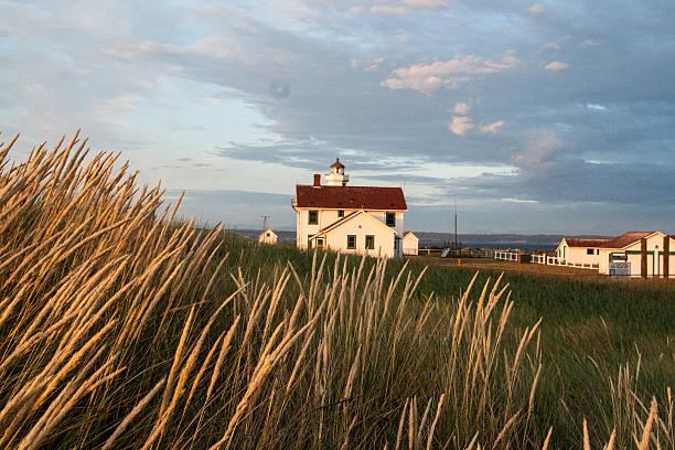 leuchtturm point wilson - own wilson stock-fotos und bilder