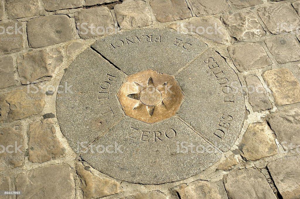Point Zero Des Routes de France Marker in Paris France royalty-free stock photo