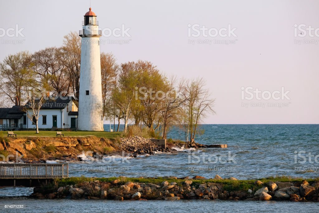 Pointe aux Barques Lighthouse, built in 1848 royalty-free stock photo
