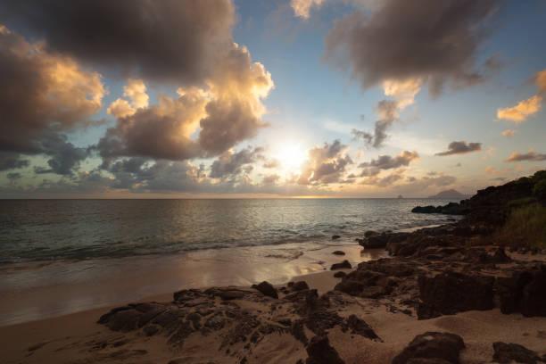 Pointe Borgnese Natural Site in Martinique island Caribbean stock photo