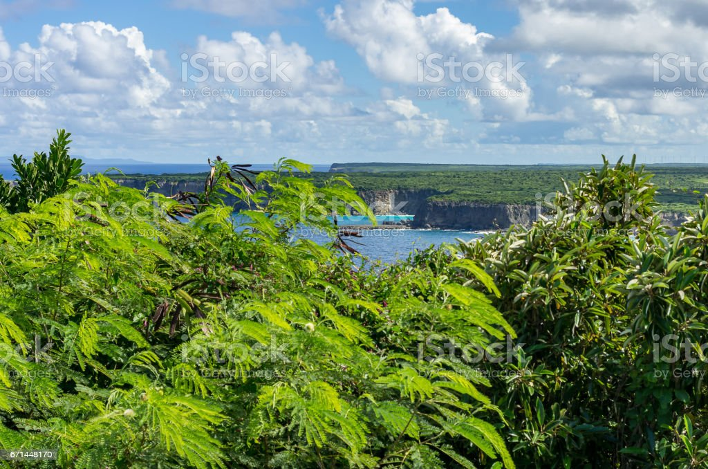 Pointe de la Grande Vigie, Anse-Bertrand stock photo