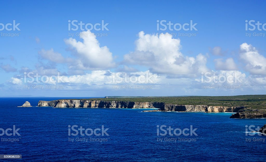 Pointe de la Grande Vigie in Guadeloupe stock photo