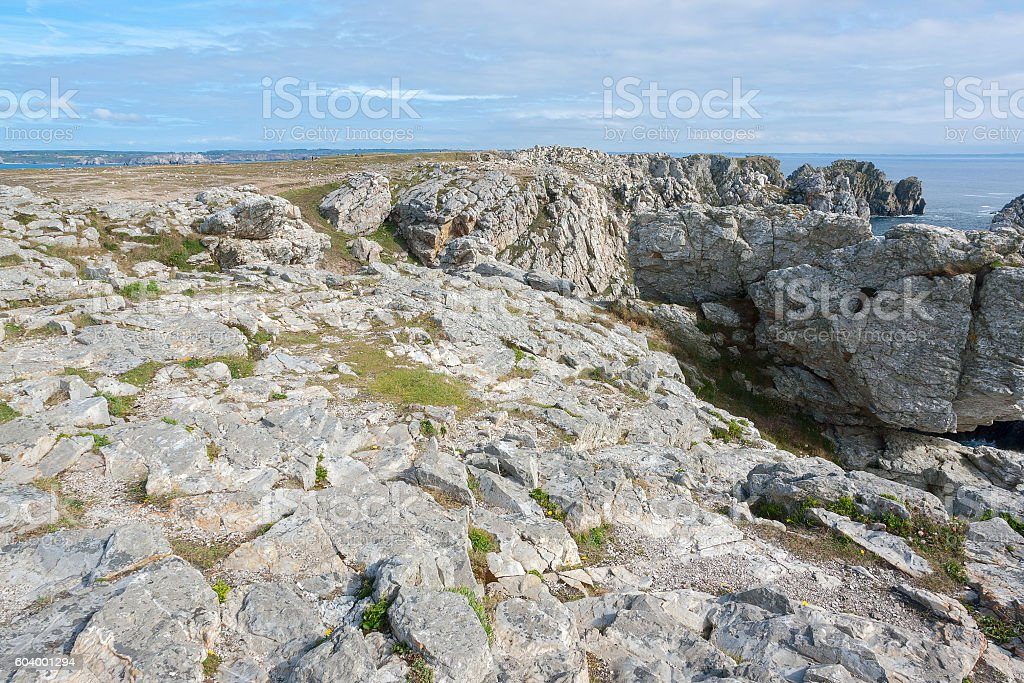 Pointe de Pen-Hir in Brittany stock photo