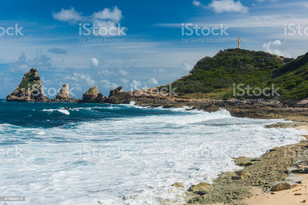 Pointe des Chateaux stock photo