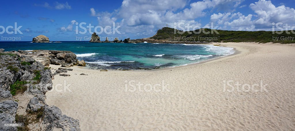 Pointe des Châteaux in Guadeloupe stock photo