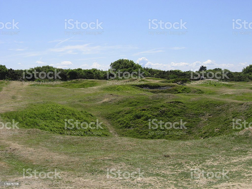 Pointe du Hoc Craters royalty-free stock photo