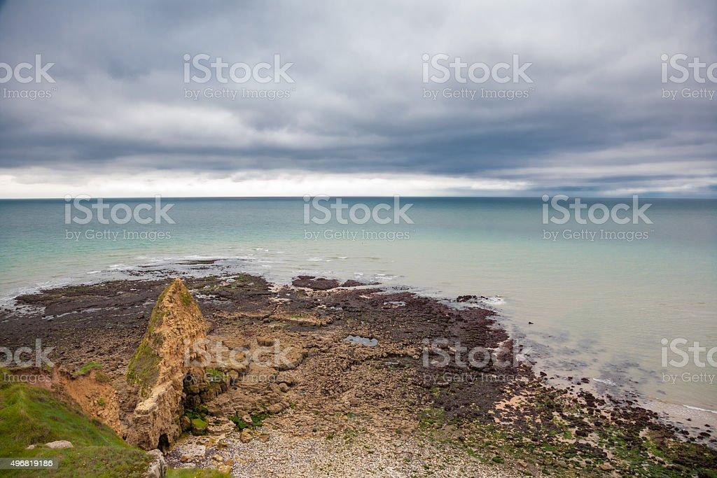 Pointe du Hoc (Normandie - France), D-Day stock photo