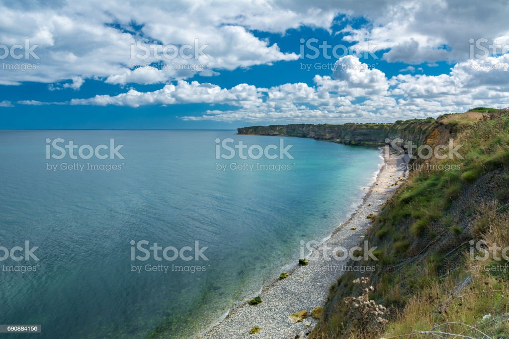 Pointe du Hoc in Normandy stock photo