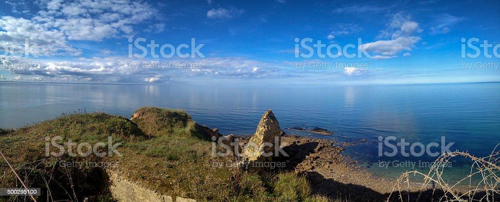 Pointe Du Hoc, Normandy France stock photo