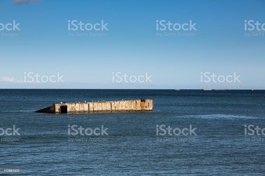 Pointe du Hoc stock photo