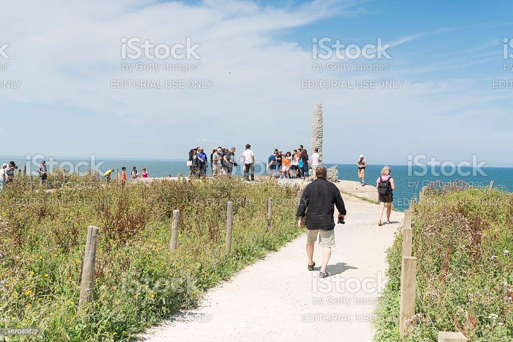 Pointe du Hoc war site stock photo