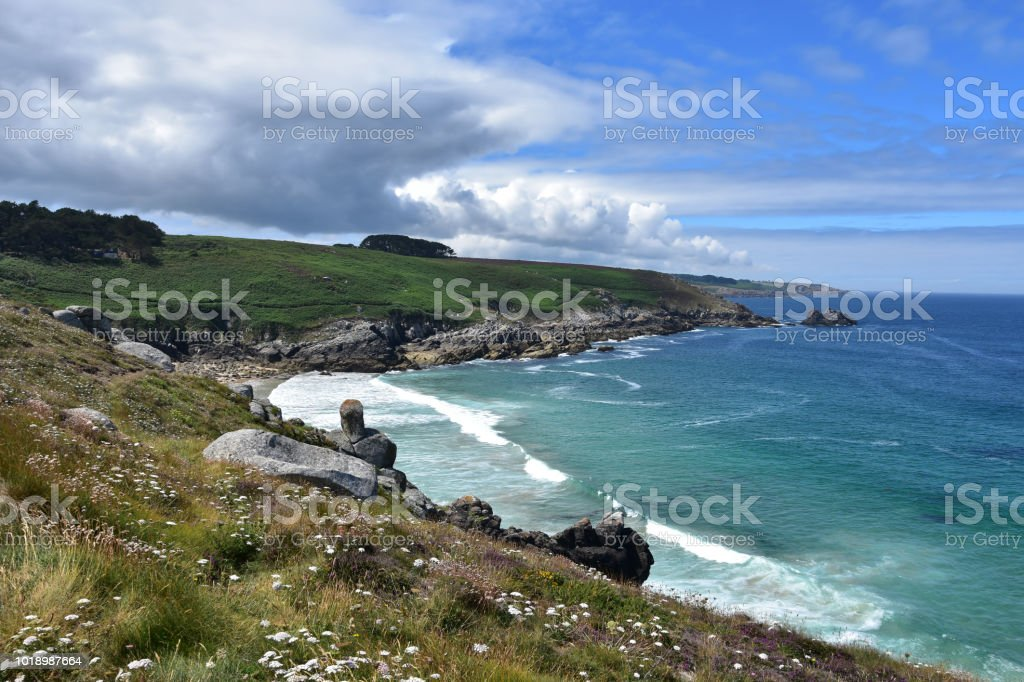 Pointe du Millier, Brittany, France stock photo