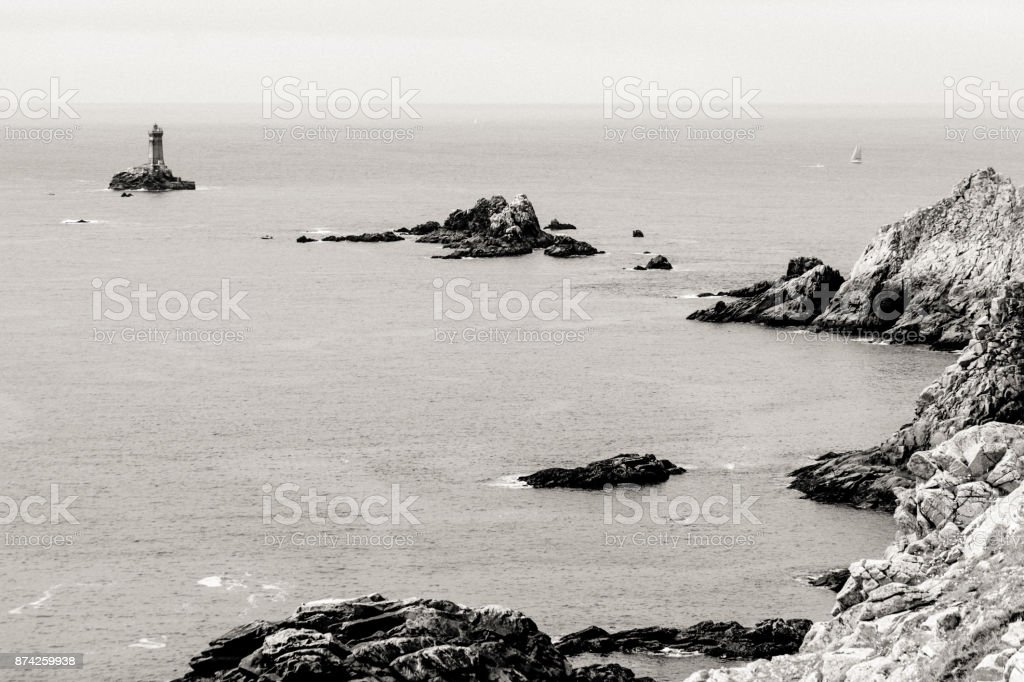 Pointe du Raz, in Brittany stock photo