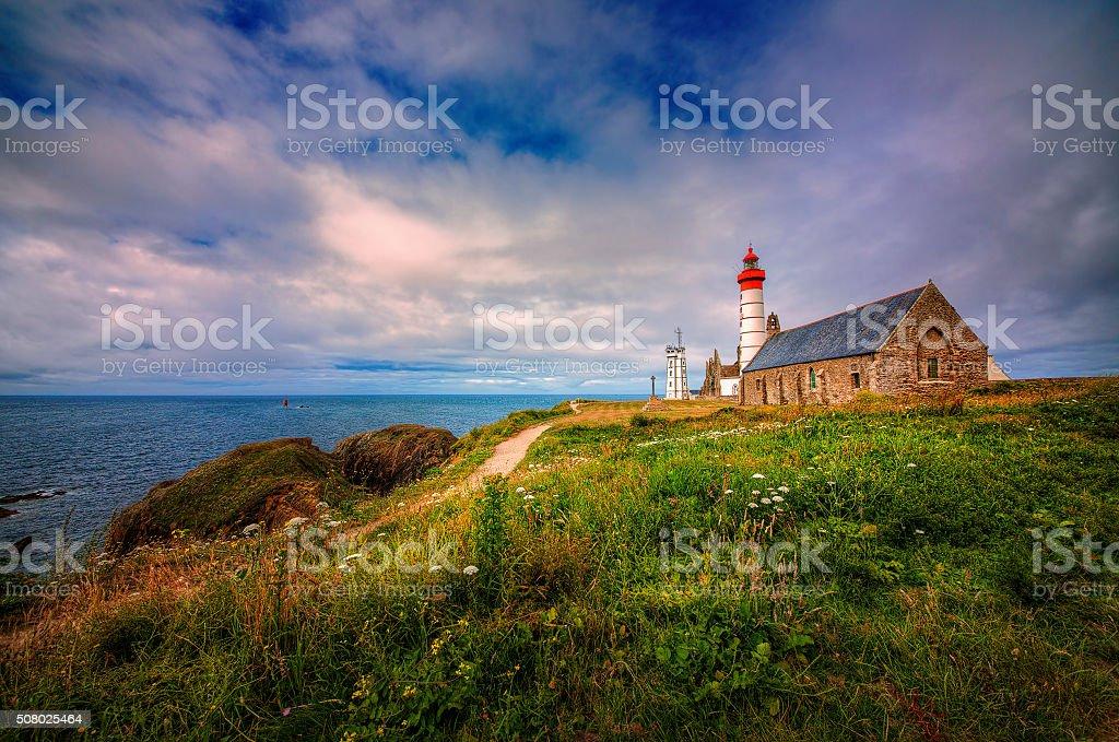Pointe Saint-Mathieu, Brittany stock photo