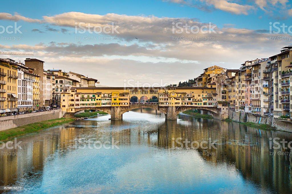 Pointe Vecchio Bridge, Florence, Italy stock photo