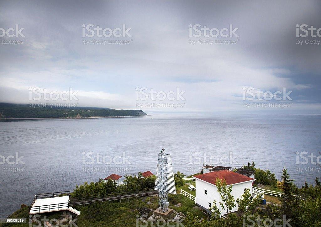 Pointe-Noire Interpretation and Observation Centre, Quebec, Cana stock photo