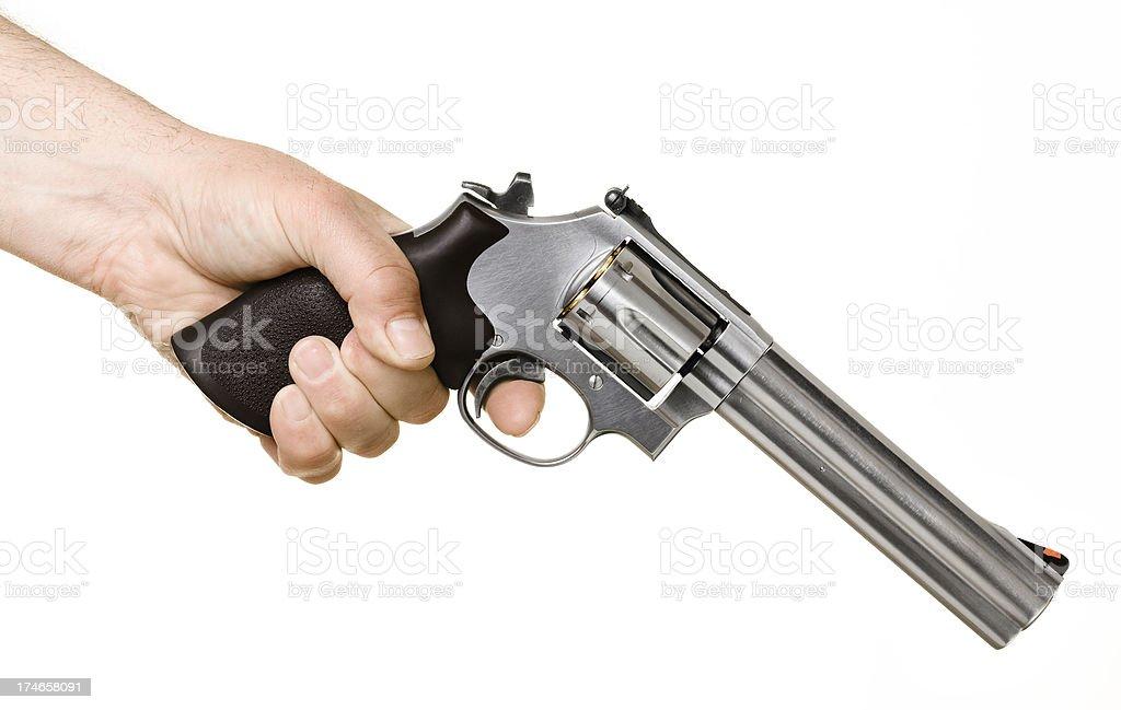 Señalando un pistola - foto de stock