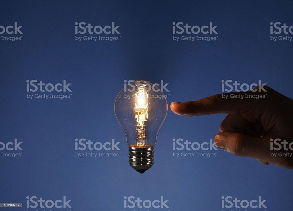Pointing at Magic Light stock photo