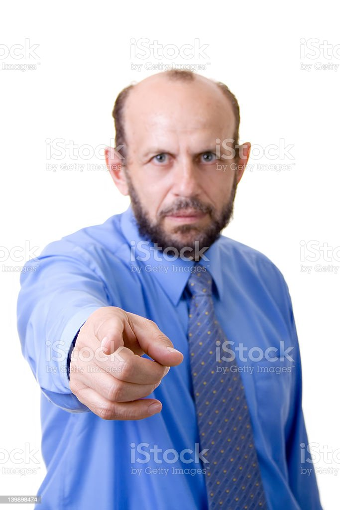 Pointing at you! royalty-free stock photo