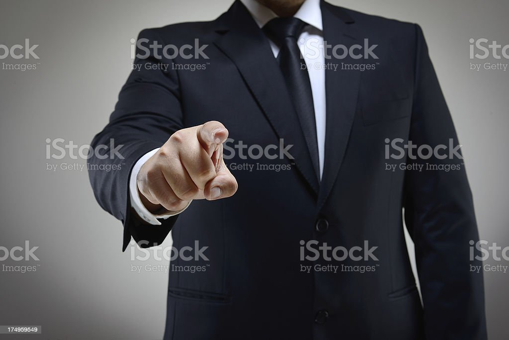 Pointing at you royalty-free stock photo