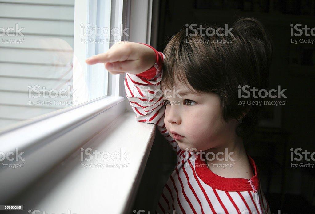 Pointing Boy royalty-free stock photo