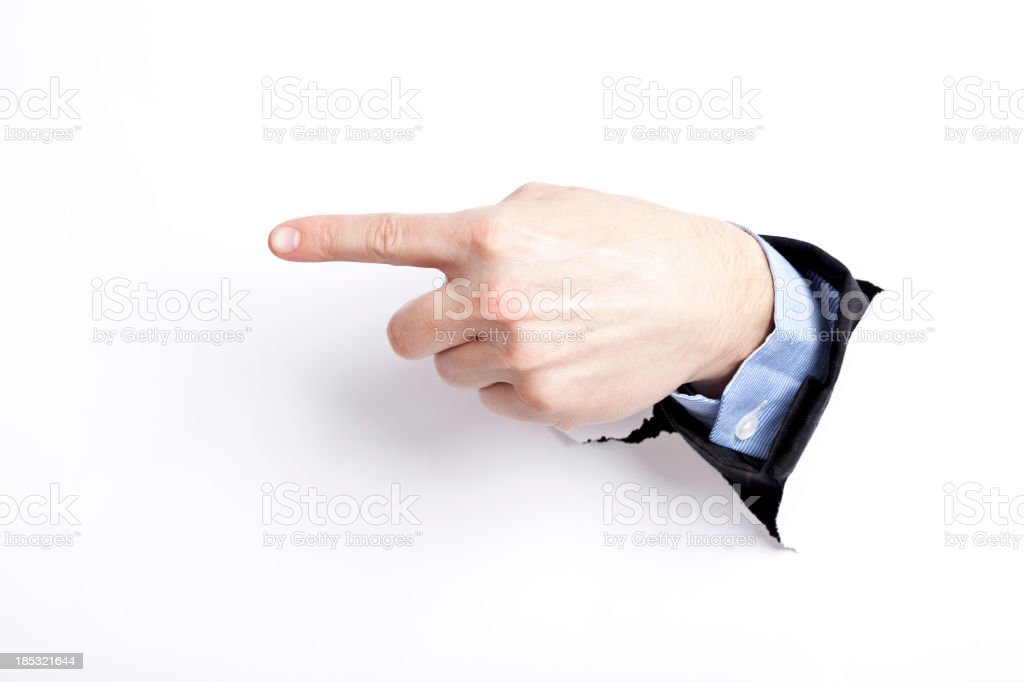 Pointing business hand. royalty-free stock photo