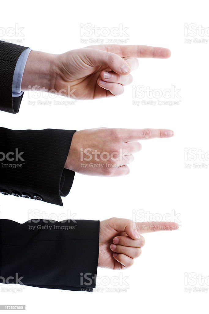 Pointing business hands royalty-free stock photo
