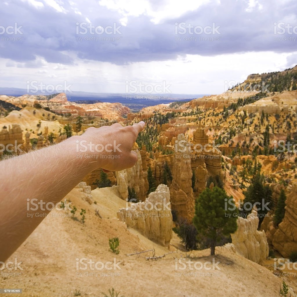 Pointing down the Canyon royalty-free stock photo