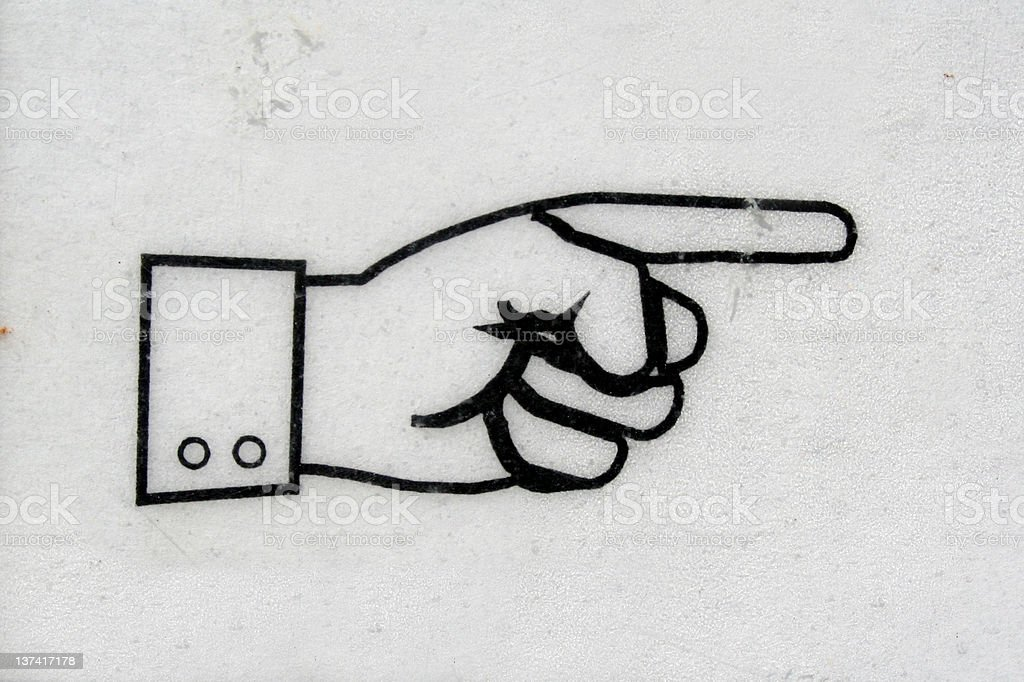 Pointing finger royalty-free stock photo